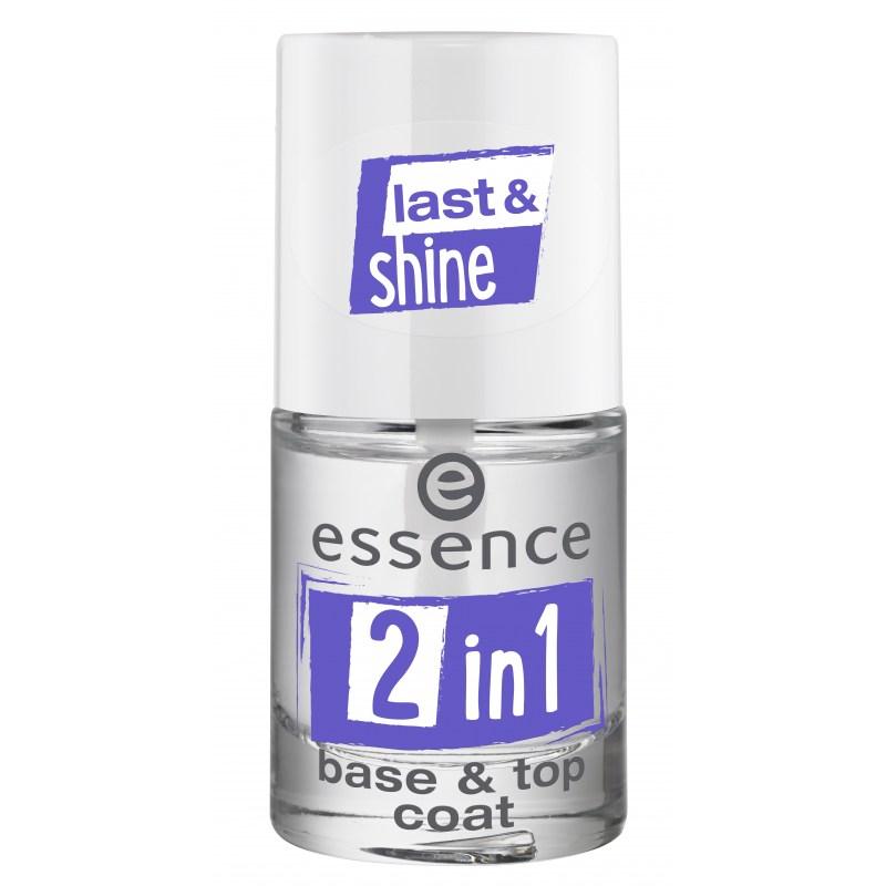 Базовое и топовое покрытие для ногтей Essence 2in1 base & top coat