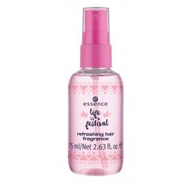 Ароматизированный спрей для волос Essence Life Is A Festival Refreshing Hair Fragrance с увлажняющими маслами