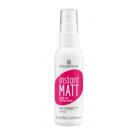 Спрей для фиксации макияжа essence instant matt make-up setting spray