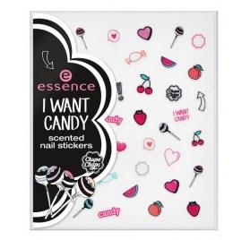 Ароматизированный скраб для ногтей essence i want candy scented nail scrub