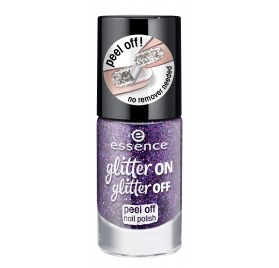Лак для ногтей Essence glitter on glitter off peel off nail polish